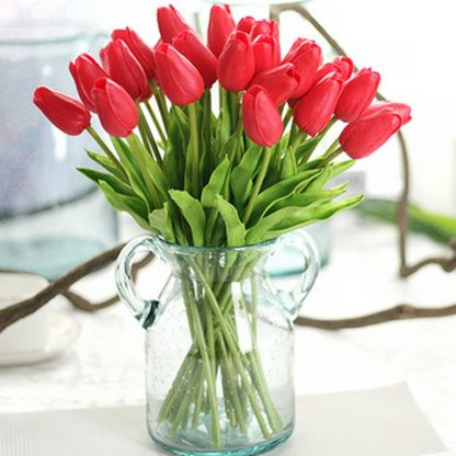 Tulip Artificial Bouquet, Home and Party Decorative Flowers