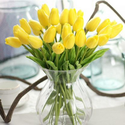 Tulip Artificial Bouquet, Home party decorative flowers