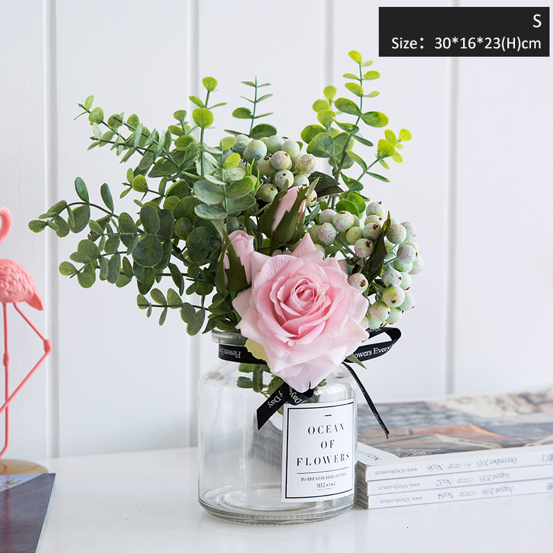 Mixed Artificial Flowers Set For Home Wedding Decor Vase Flowers
