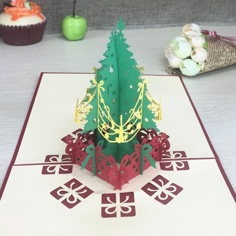 3d Pop Up Greeting Cards With Envelope Laser Cut