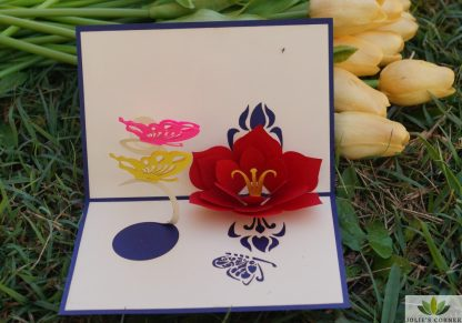 Flower-Pop up card