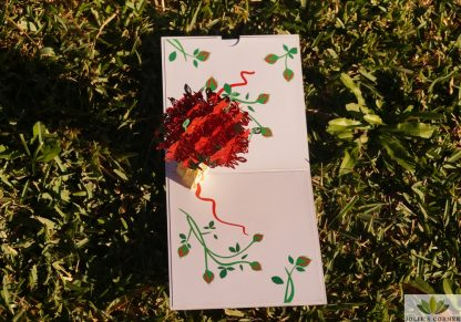 Red flower-Pop up card
