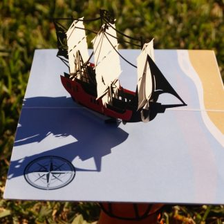 Pirate boat-pop up card