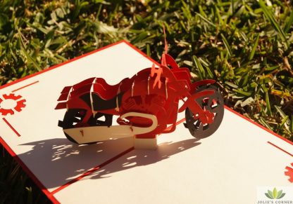 Moto bike- pop up card