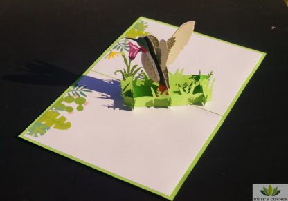 Bird & flower-pop up card
