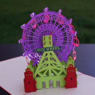 Big wheel-Pop up card